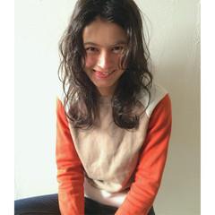 ブラウン 外国人風 パーマ ストリート ヘアスタイルや髪型の写真・画像