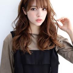 大人カジュアル ロング フェミニン 韓国風ヘアー ヘアスタイルや髪型の写真・画像