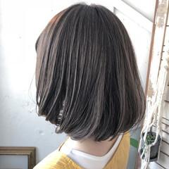デート ボブ オフィス イルミナカラー ヘアスタイルや髪型の写真・画像