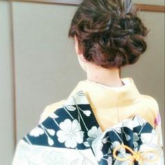 大人かわいい ロング 和装 ヘアアレンジ ヘアスタイルや髪型の写真・画像