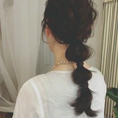 パーティ ゆるふわ デート ロング ヘアスタイルや髪型の写真・画像