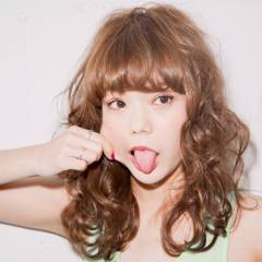 ストリート 外国人風 セミロング ヘアスタイルや髪型の写真・画像