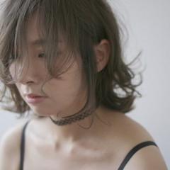ボブ ラフ 透明感 モード ヘアスタイルや髪型の写真・画像