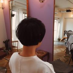 黒髪 ショート ストリート マッシュ ヘアスタイルや髪型の写真・画像