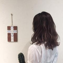 ナチュラル 外国人風 デート ミディアム ヘアスタイルや髪型の写真・画像