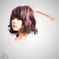 ストリート 丸顔 ベース型 ゆるふわ ヘアスタイルや髪型の写真・画像