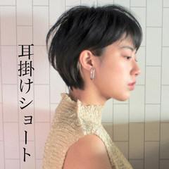 パーマ アウトドア ショート ウェットヘア ヘアスタイルや髪型の写真・画像
