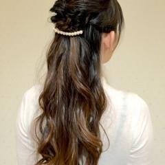 ヘアアレンジ ゆるふわ 簡単ヘアアレンジ ロング ヘアスタイルや髪型の写真・画像