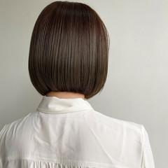 大人かわいい 韓国ヘア ミニボブ デート ヘアスタイルや髪型の写真・画像