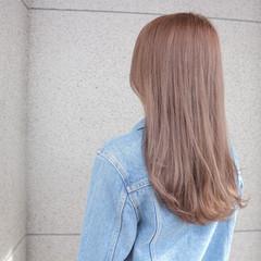 ピンク グレー ロング ピンクアッシュ ヘアスタイルや髪型の写真・画像