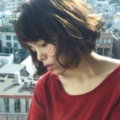 暗髪 ショートボブ ショート 大人かわいい ヘアスタイルや髪型の写真・画像