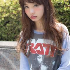 外国人風 パンク グラデーションカラー ロング ヘアスタイルや髪型の写真・画像