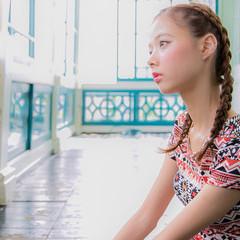 ストリート ショート 簡単ヘアアレンジ 外国人風 ヘアスタイルや髪型の写真・画像