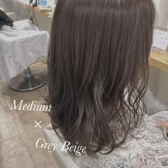 ダメージレス ナチュラル ミディアム 透明感カラー ヘアスタイルや髪型の写真・画像
