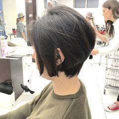 ショートボブ 黒髪 ボブ 色気 ヘアスタイルや髪型の写真・画像
