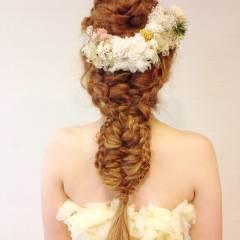 ヘアアレンジ ブライダル アップスタイル 編み込み ヘアスタイルや髪型の写真・画像
