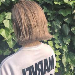 リラックス 簡単ヘアアレンジ ボブ ストリート ヘアスタイルや髪型の写真・画像