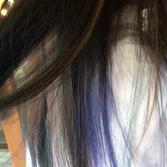 ブルー ストリート ネイビー ブルーアッシュ ヘアスタイルや髪型の写真・画像