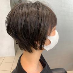 ショートボブ ショートヘア ナチュラル可愛い ミニボブ ヘアスタイルや髪型の写真・画像