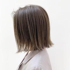 ヘアカラー ハイライト 透明感カラー ナチュラル ヘアスタイルや髪型の写真・画像