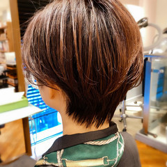 髪質改善 小顔 ショート インナーカラー ヘアスタイルや髪型の写真・画像