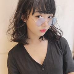 ミディアム かわいい ガーリー 色気 ヘアスタイルや髪型の写真・画像