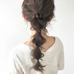 ナチュラル ロング 大人可愛い 編みおろし ヘアスタイルや髪型の写真・画像