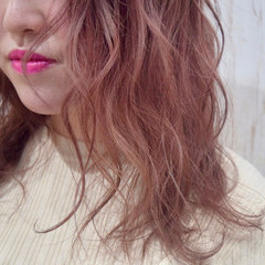 ピンクブラウン 春色 ベリーピンク ピンクラベンダー ヘアスタイルや髪型の写真・画像