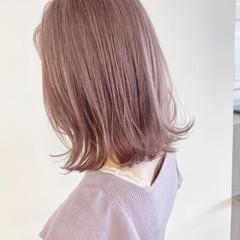 ブリーチ必須 ラベンダー ピンク ボブ ヘアスタイルや髪型の写真・画像