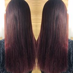 ハイライト グレージュ バレイヤージュ ピンクアッシュ ヘアスタイルや髪型の写真・画像