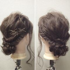 ミディアム ゆるふわ 簡単ヘアアレンジ ショート ヘアスタイルや髪型の写真・画像