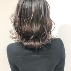 外国人風カラー 簡単ヘアアレンジ ナチュラル ミディアム ヘアスタイルや髪型の写真・画像