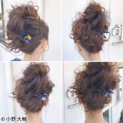 ミディアム お団子 結婚式 色気 ヘアスタイルや髪型の写真・画像