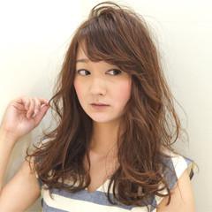 春 ピュア フェミニン セミロング ヘアスタイルや髪型の写真・画像