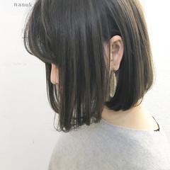 色気 ボブ ミルクティー ナチュラル ヘアスタイルや髪型の写真・画像