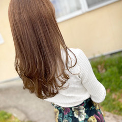 ロング ミルクティーベージュ 大人女子 透明感カラー ヘアスタイルや髪型の写真・画像