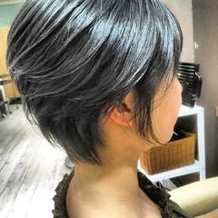 切りっぱなしボブ ベリーショート ミニボブ ショートヘア ヘアスタイルや髪型の写真・画像