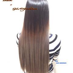 ハイトーン ロング グラデーションカラー ブリーチ ヘアスタイルや髪型の写真・画像
