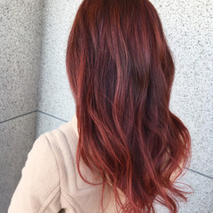 外国人風 グラデーションカラー ピンク 外国人風カラー ヘアスタイルや髪型の写真・画像