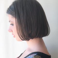 ゆるふわ モテ髪 ショートボブ オフィス ヘアスタイルや髪型の写真・画像