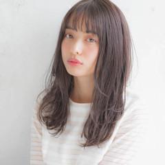 女子力 デート 大人かわいい セミロング ヘアスタイルや髪型の写真・画像