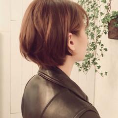 ショート 縮毛矯正 ストレート パーマ ヘアスタイルや髪型の写真・画像
