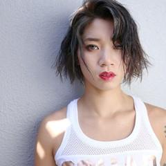 ショート ストリート ウェットヘア スポーツ ヘアスタイルや髪型の写真・画像