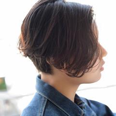 外国人風 ボブ 前下がり パーマ ヘアスタイルや髪型の写真・画像
