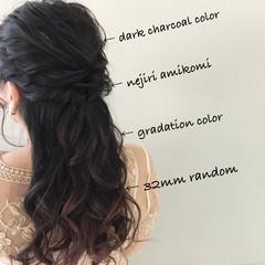 簡単ヘアアレンジ デート ナチュラル ゆるふわ ヘアスタイルや髪型の写真・画像
