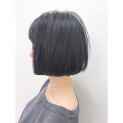切りっぱなし ワンレングス 大人女子 ナチュラル ヘアスタイルや髪型の写真・画像