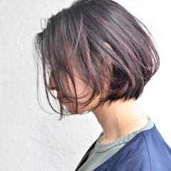 抜け感 インナーカラー 暗髪 ストリート ヘアスタイルや髪型の写真・画像