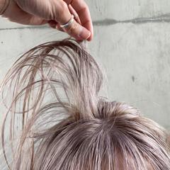 ナチュラル 艶カラー ミルクティー ボブ ヘアスタイルや髪型の写真・画像