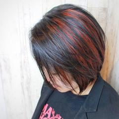 モード ショートヘア デザインカラー ショート ヘアスタイルや髪型の写真・画像