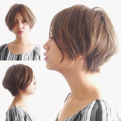 ショート ショートヘア ショートボブ 小顔ショート ヘアスタイルや髪型の写真・画像